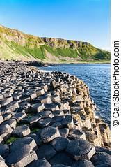 Giants Causeway and cliffs in Northern Ireland