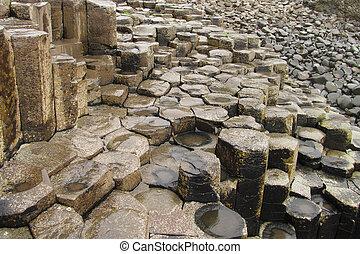 Giant's Causeway columnar basalt
