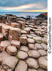Giant's Causeway in Northern Ireland - Unique lava rocks ...