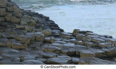 giant's, irland, Reise, bestimmungsort, stein, damm, meer, irisch, landschaftsbild, Besichtigung