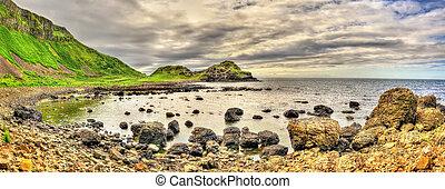 giant's, norte, herança, local, irlanda, causeway, unesco, vista