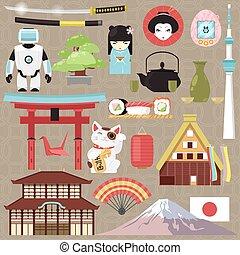 Tradizionale geisha giapponese simboli samurai for Architettura giapponese tradizionale