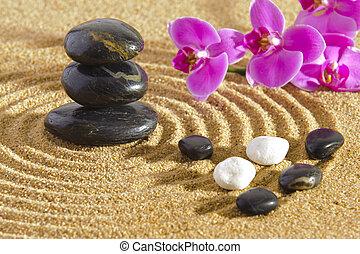Pietre zen accatastato giapponese giardino pietre for Pietre giardino zen