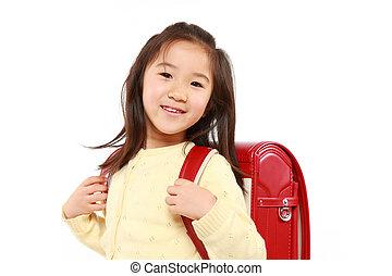 giapponese, ragazza scuola