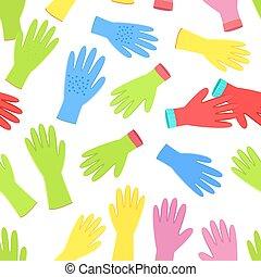 giardinaggio, f, seamless, struttura, guanti, collezione, colorito
