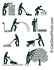 giardinaggio, pictogram