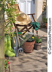 giardinaggio, terrazzo