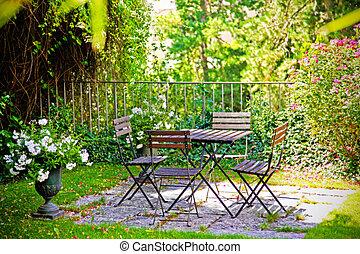 giardino, casa