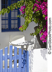 giardino, colorito, terrazzo