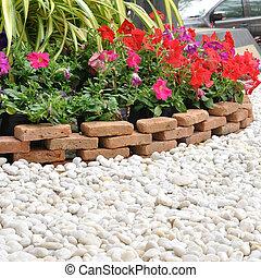 1 fiori disegno giardino pietre giardino for Cabine di roccia bianca