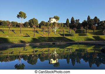Giardino di Boboli (Boboli Gardens) in Florence Italy - The...