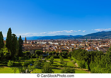 Giardino di Boboli in Florence Italy - travel background