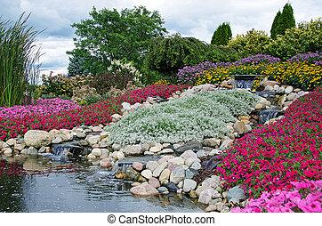 giardino roccia, cascate