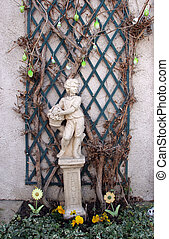 giardino, scultura