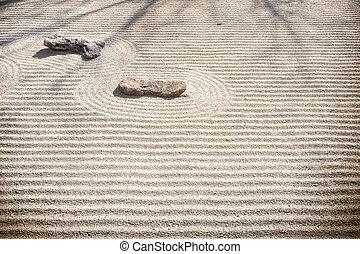 giardino, zen, -, modelli, sabbia, roccia