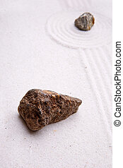 giardino zen, roccia