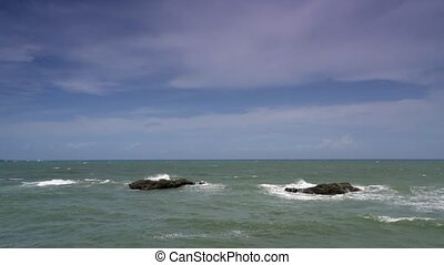 Gibara, rocks in the sea