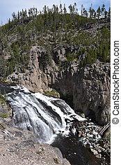 Gibbon Falls at Yellowstone National Park