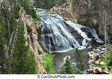 Gibbon Waterfall in Yellowstone - Beautiful Gibbon River...