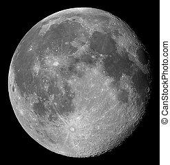 gibbous, księżyc