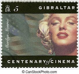 GIBRALTAR - 1995: shows Marilyn Monroe - GIBRALTAR - CIRCA...