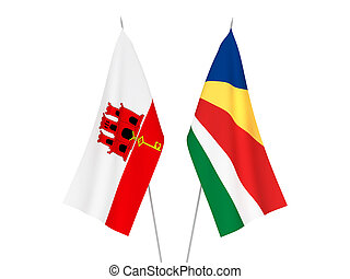 Gibraltar and Seychelles flags - National fabric flags of ...
