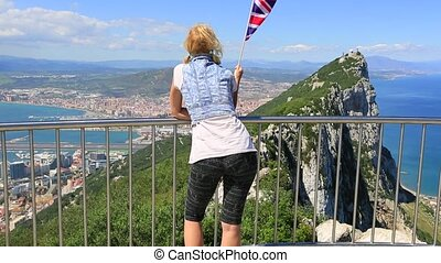 Gibraltar British flag