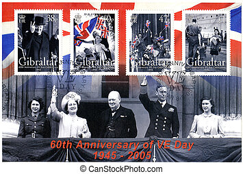 GIBRALTAR - CIRCA 2005 : A stamp printed in Gibraltar shows...