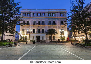 Gibraltar City Hall at night