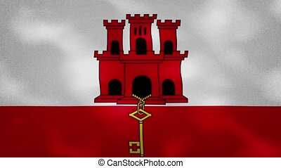 Gibraltar dense flag fabric wavers, perfect loop for background