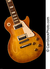 Vintage Les paul guitar with a honeyburst finish