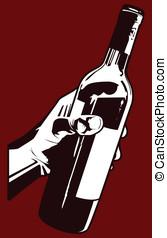 gieten, de, wijntje