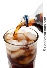 gieten, soda, glas