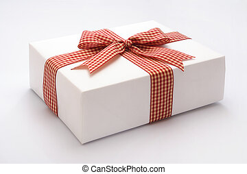 Gift against white background