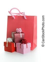 Gift bag with gift boxes