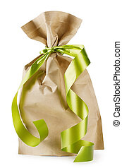 Gift bag with ribbon