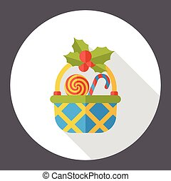 gift basket flat icon