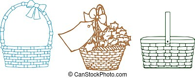 Gift basket icon on white background