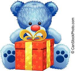 gift blue teddy bear