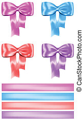 Gift bow and ribbon set