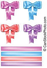 Gift bow and ribbon set