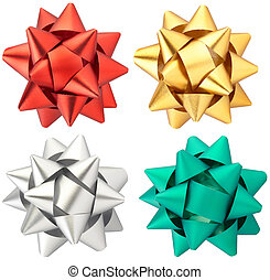 Gift bow collection isolated