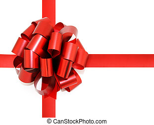 Gift bow isolated on white background.