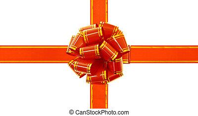 Gift bow isolated on white background.
