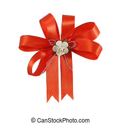 Gift bow orange for gift.