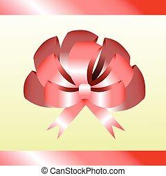 gift bow. pink. illustration