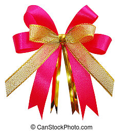 Gift bow. Ribbon. Isolated on white