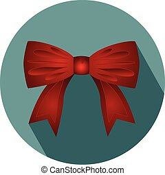 Gift bow ribbon silk