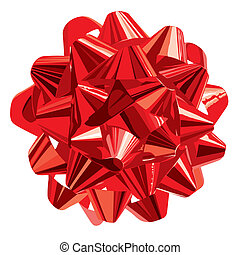 Gift Bow (vector) - Red Gift Bow