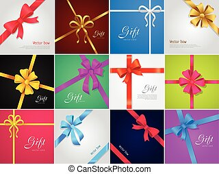 gift., bow., vetorial, vário, cobrança, fitas